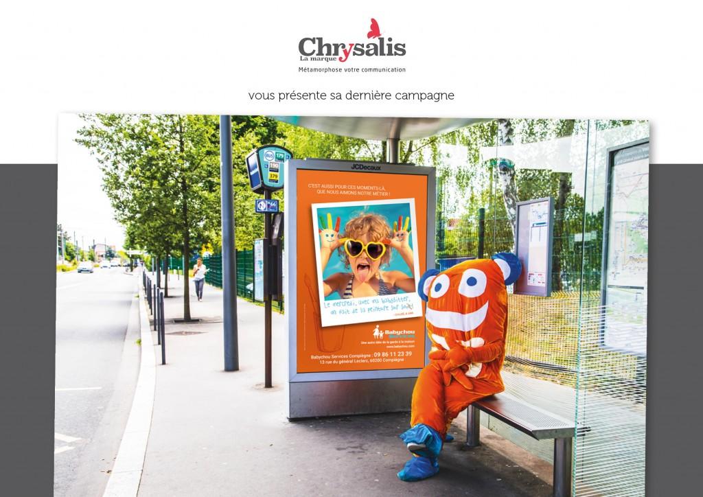 Babychou Services panneau arrêt de bus